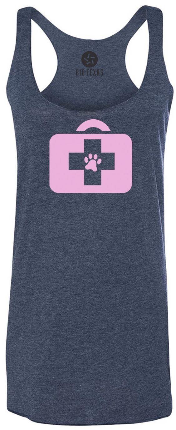 Animal Doctor (Pink) Tri-Blend Racerback Tank-Top