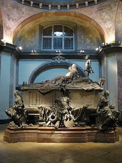 The tomb of Empress Maria Theresa in the Crypt of the Capuchins, Vienna