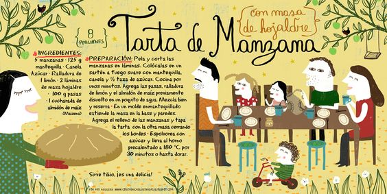 Recetas ilustradas de Pati Aguilera.