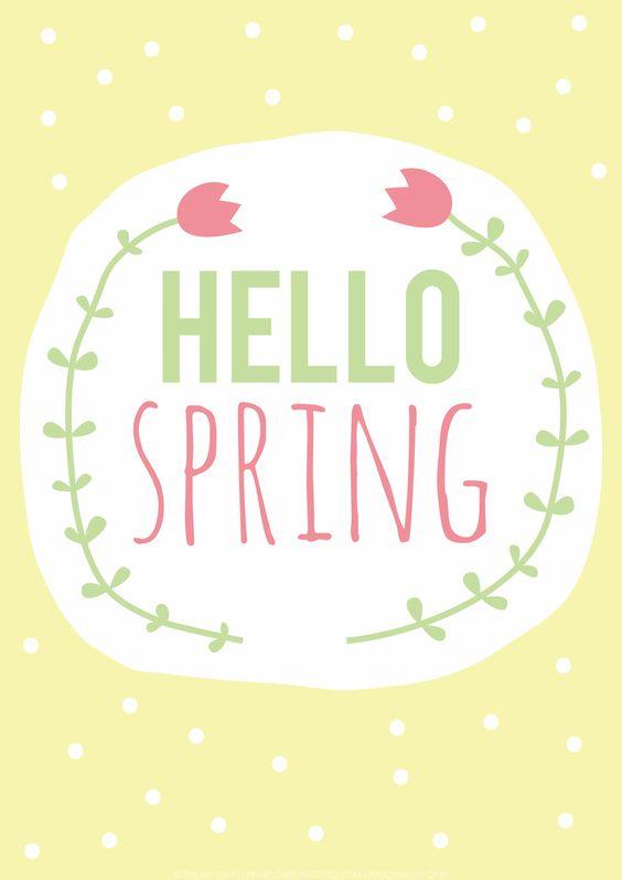 Hello Spring / Hallo Frühling | #freeprintable #frühling #frühlingsgefühle #frühlingserwachen