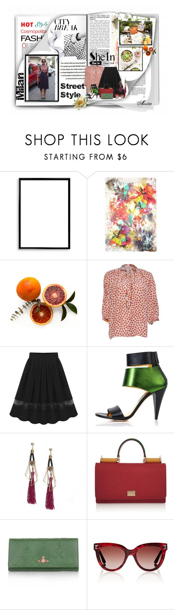 """""""Milan Street Style"""" by wodecai ❤ liked on Polyvore featuring Bomedo, Franco Ferrari, Tucker, Kim Kwang, Dolce&Gabbana, Vivienne Westwood and Valentino"""