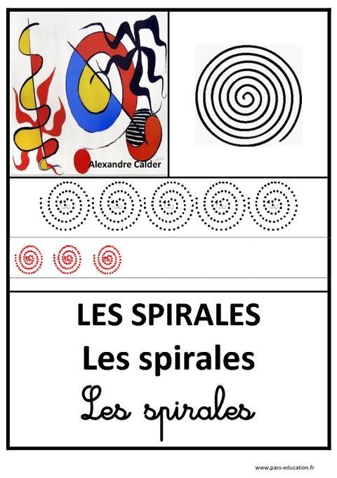 spirales graphisme affichages pour la classe maternelle ps ms gs pass education. Black Bedroom Furniture Sets. Home Design Ideas