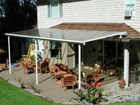 Its a simple patio cover design lori 39 s house pinterest for Easy deck ideas