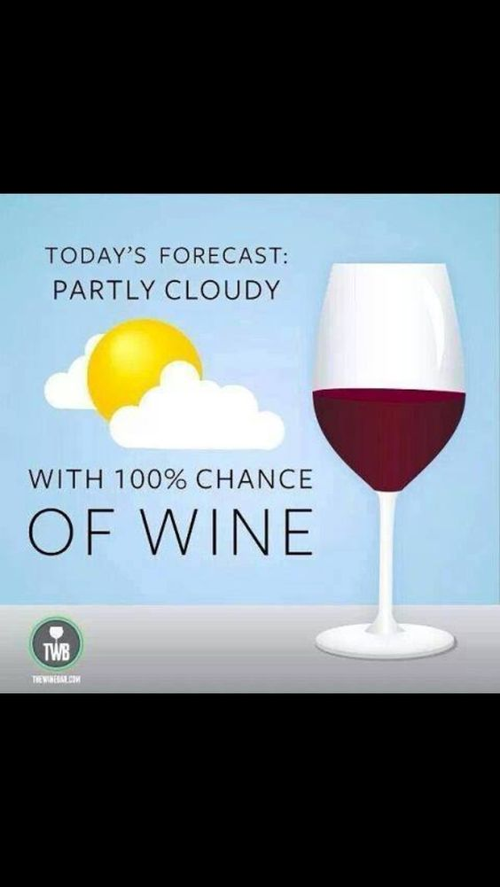 Cloudy with 100% chance of wine.