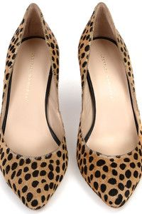 I need these! Loeffler Randall's classic Tasmin Pump | Cheetah printed calf hair