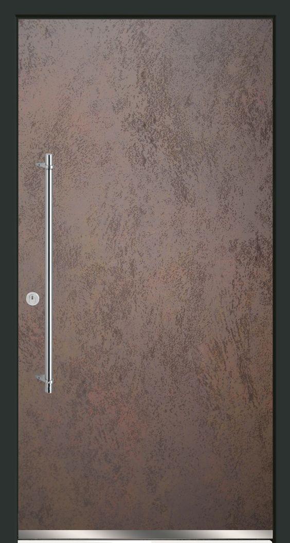 Haustüroberfläche mit CERAMAX Hypridceramic in Rostoptik. CERADOOR, Design MATRIX 03.10.
