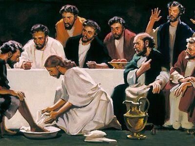 """John 13:12 12 When he had finished washing their feet, he put on his clothes and returned to his place. """"Do you understand what I have done for you?"""" he asked them. John 13:23 23 One of them, the d..."""
