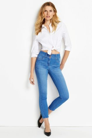 Buy Lift, Slim And Shape Cropped Jeans online today at Next ...