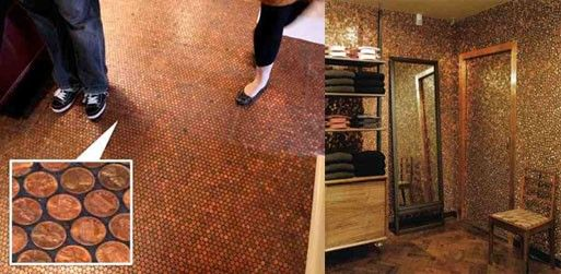 Penny Floor — Flooring -- Better Living Through Design  How gorgeous does that look? And how much does it work out to per square foot?