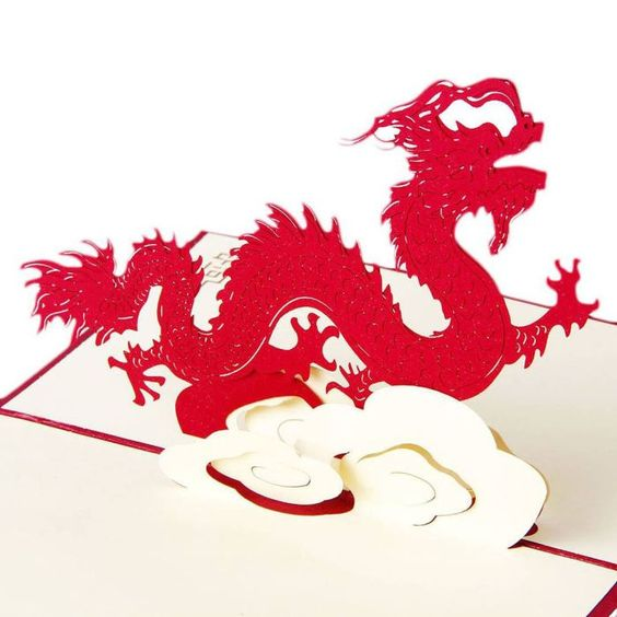 3D Pop Up #Greeting #Card  #Chinese #Dragon  #INPCreative http://ift.tt/2cs9LEF #popupcards #birthdaycards #cute #dragons #power #legend