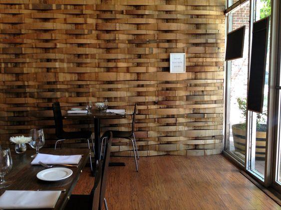 Barrel stave wall   Post Quake House Shake   Pinterest ...