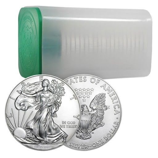 Roll Of 20 1 Oz Silver American Eagle Coins Date Varies Eagle Coin Gold American Eagle Coin Design