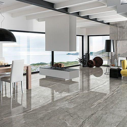 Tundra Grey Large Marble Effect 240x120cm Porcelain Tile Marble