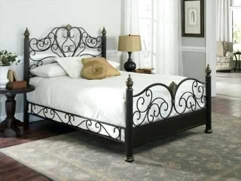 Wunderbare Black Metal Queen Bett Schlafzimmerde Com Bett Mobel Bettgestell Aus Metall Selbstgemachte Bettrahmen