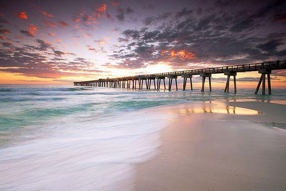 Panama City Beach Pier,Florida