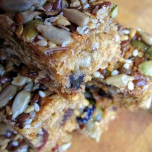 Honey and peanut butter booster bars. So good.