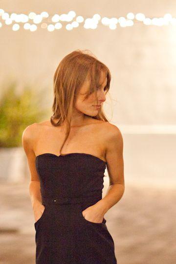 Little Black Dress! Strapless LBD | Emerson Fry