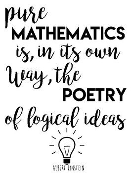 Spruce Up Your Classroom With Math Quotes By Famous Mathematicians Math Quotes Mathematics Quotes Math Humor