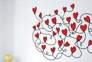 Vinilos de Amor| Enredadera de Corazones  Adquiere MiVinilDecorativo HOY o tu Fotomural Personalizado&nb..
