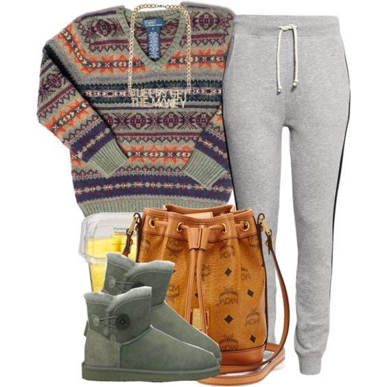 A fashion look from January 2015 featuring Ralph Lauren sweaters, H&M activewear pants and UGG Australia boots. Browse and shop related looks.