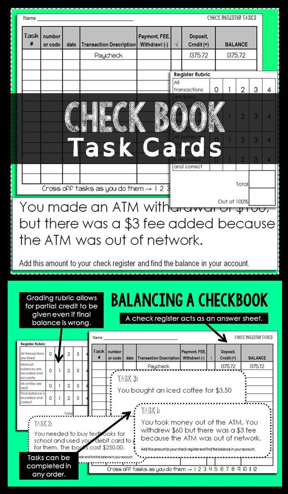 balancing checkbook task cards student the o 39 jays and math. Black Bedroom Furniture Sets. Home Design Ideas