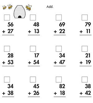 Printables Addition With Regrouping Worksheets 2nd Grade printable math and measurements worksheets addition strategies once your child enters first second grade reinforce basic arithmetic counting and