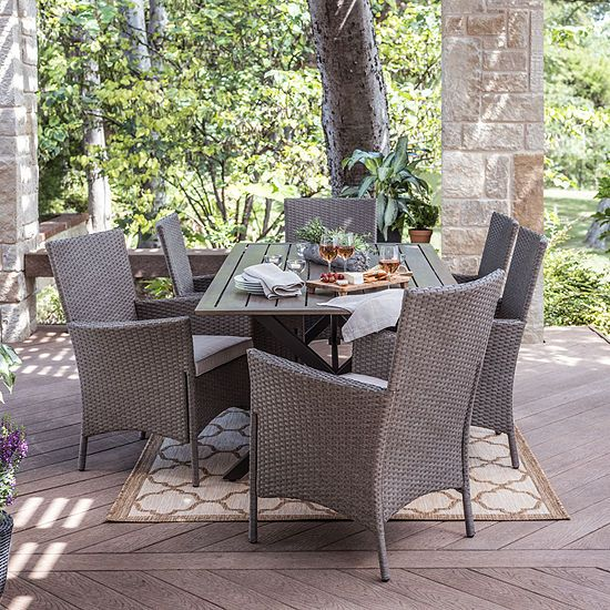 Outdoor Oasis Lakehurst 7 Pc Patio Dining Set Jcpenney Patio Decor Patio Outdoor Rooms
