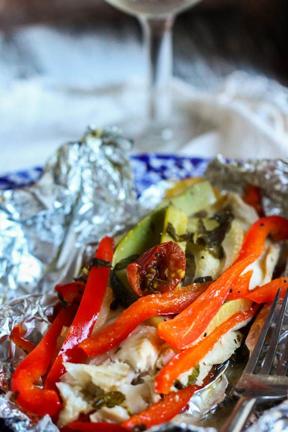 Fish veggies and foil packets on pinterest for How do you bake fish