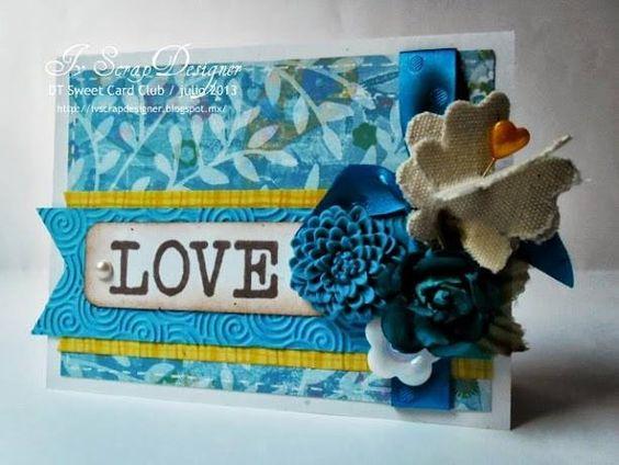 SWEET CARD CLUB: Reto 35: Creando con colores y tela