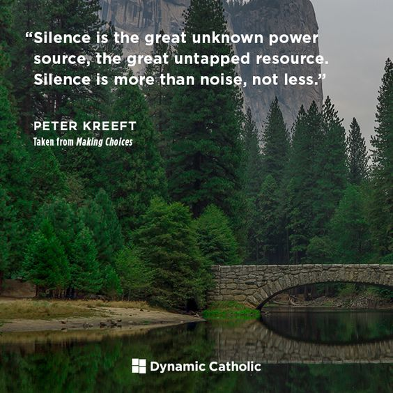 """Silence is the great unknown power source, the great untapped resource. Silence is more than noise, not less."" 