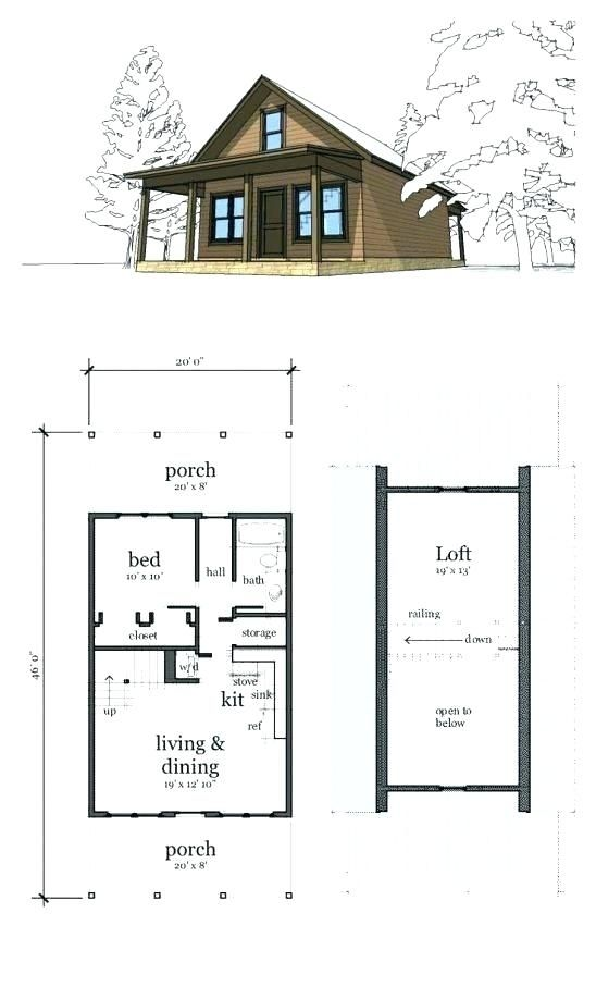 Simple Small Cabin Plans With Loft Free Gallery Cabin Plans Inspiration In 2020 House Plan With Loft Cabin Plans With Loft Loft Floor Plans