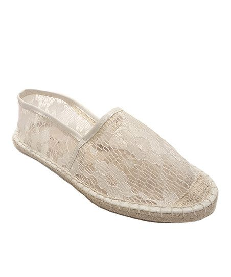 White Lace Espadrille Flat - for my outdoor wedding!