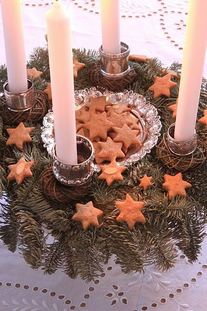 If those stars are cookies, I know the family will have no issue gathering when I call to light the wreath... as long as we end the prayer time with a cookie.