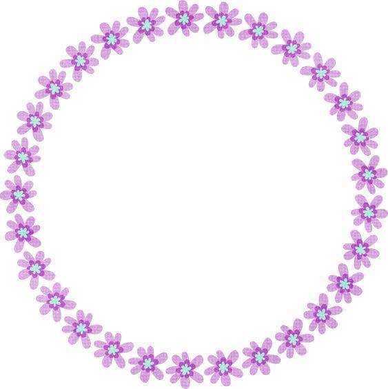 purple flower round | frames | Pinterest | Flower, Pajamas ...