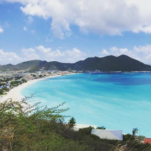 Measure life in smiles   #sxm #beach #bay #nature #clouds...  Instagram travelquote