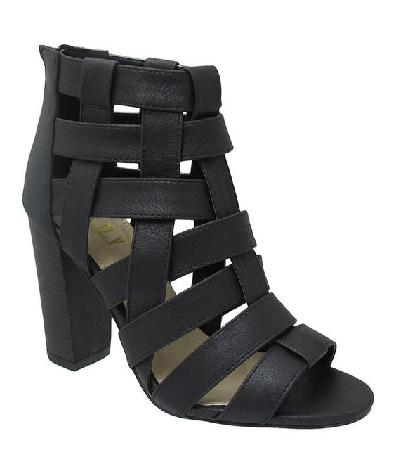 Look at this Black Strappy Venice Sandal on #zulily today!