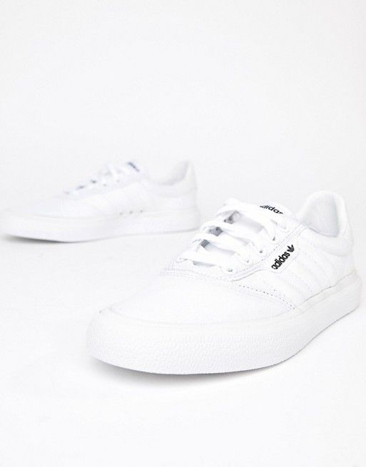 adidas Skateboarding 3MC Vulc sneaker in white | ASOS ...
