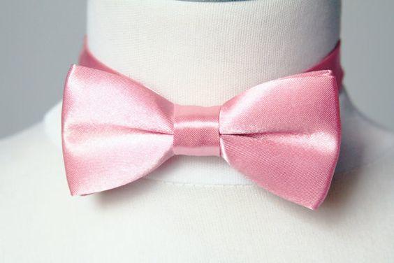 Men Solid Color Bow Tie Bowtie Pretied Double Bow by NAFEstudio