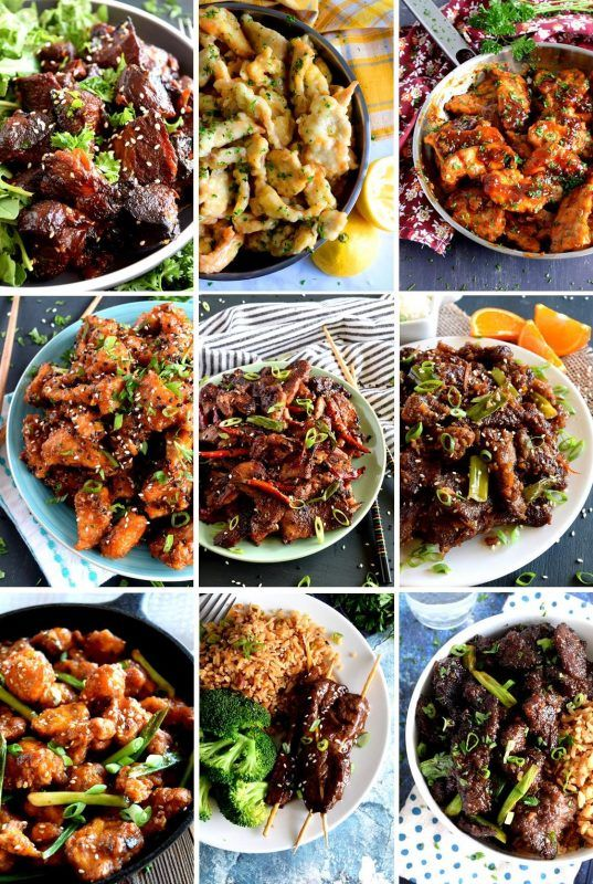 11 Asian Buffet Inspired Favourite Recipes Chinese Food Buffet Favorite Recipes Food Recipes