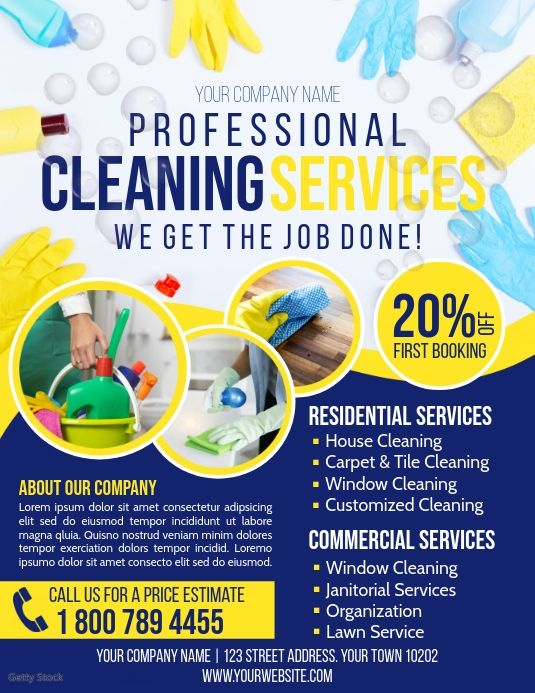 Cleaning Service Flyer Cleaning Company Names Cleaning Service Cleaning Service Flyer