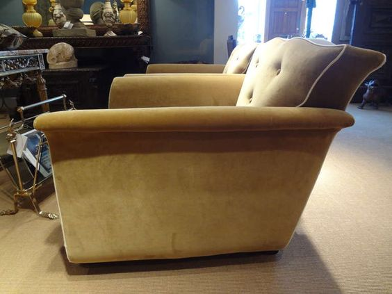 Pair of Period French Art Deco Upholstered Club Chairs image 7