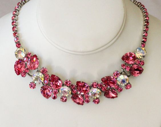 Juliana Delizza Elster Huge Fuchsia Pink by EmbellishgirlVintage