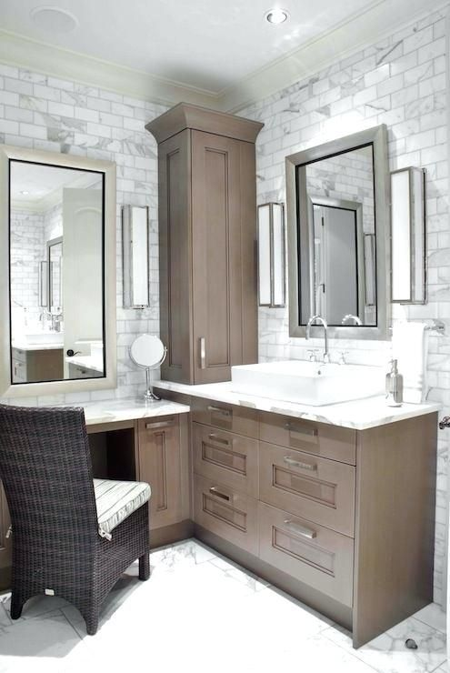 L Shaped Bathroom Vanity Interior Bathroom Vanities With Makeup