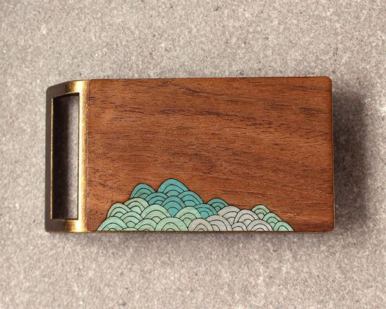 Gift for Guys, Waves Belt Buckle, Wood Belt Buckle, Surfer Belt Buckle, Modern Belt Buckle, Beach Belt Buckle, Nautical Belt Buckle