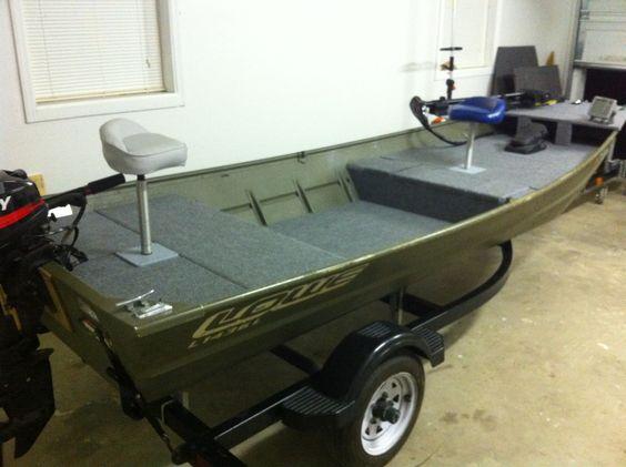 Custom interior boat ideas pinterest jon boat for Jon boat bass fishing