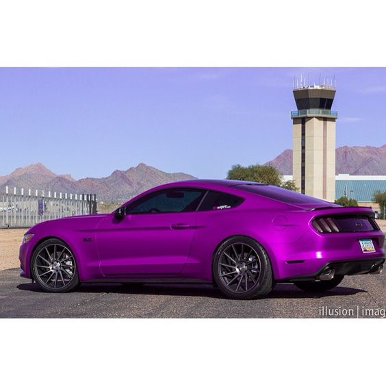 Purple ford 2015 mustang
