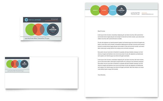 Secretarial Services Business Card and Letterhead Template Design - free letterhead templates download