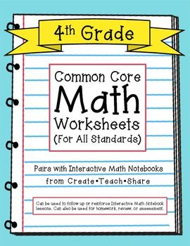 math worksheet : common core math worksheets  4th grade  math worksheets common  : Interactive Math Worksheets