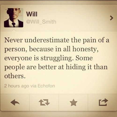Yes!! Some people cope better when they hide it.
