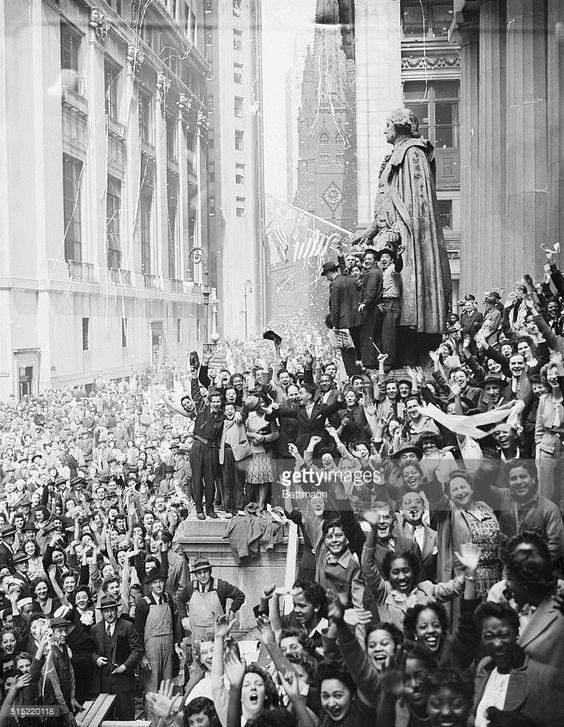 On This Day 1945: Celebrating the End of WWII in Europe | Getty Images